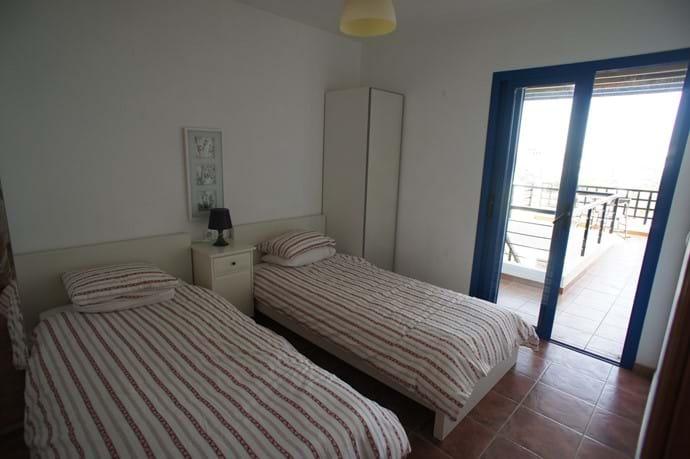 Second Bedroom with veranda and sea views