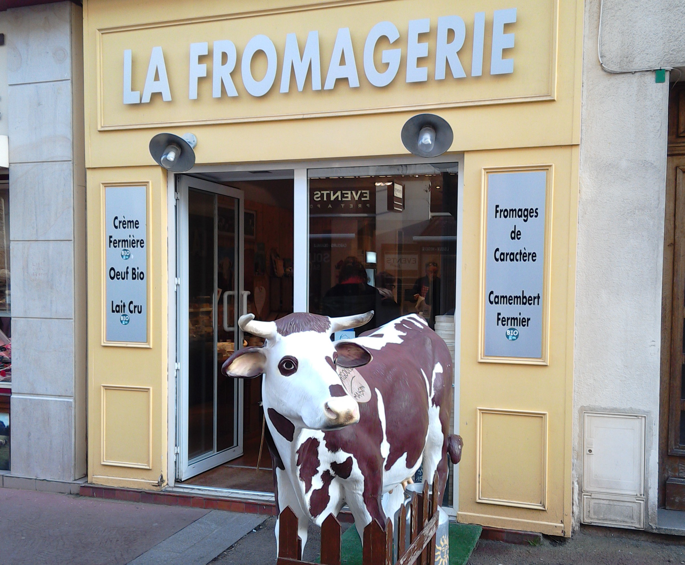 Cheese shop in Caen, Normandy