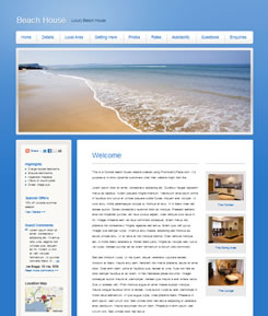 New holiday rental website template released