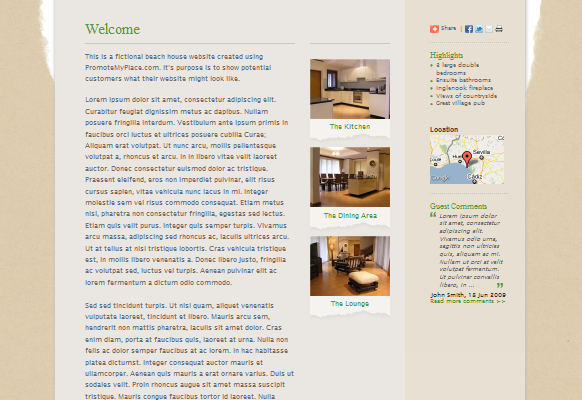 Beautiful new holiday rental website design