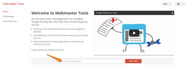 Add a site - Google Webmaster Tools