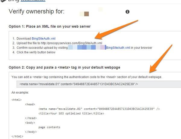 Bing Webmaster Tools 4