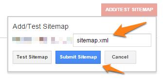 Submit sitemap 3
